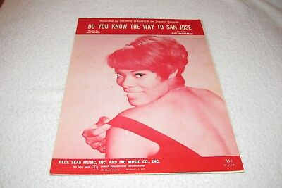 Sheet Music - Dionne Warwick - Do You Know The Way To San Jose