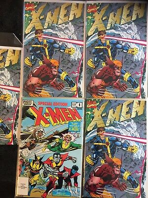X-Men #1 Special Collectors Edition, Jim Lee Times Four Copies X-Men Spec Ed#1