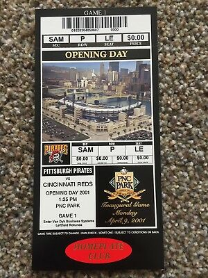 2001 PNC Park Inaugural Opening First Game Pirates Reds Full Unused Ticket Stub