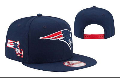 New England Patriots Snap Back Cap Adjustable Hat Embroidered NE Flat Bill Men