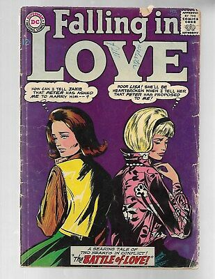 FALLING IN LOVE #73 1965 DC Silver Age Romance Comic GD 2.0.