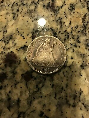 1843 US Seated Liberty Silver Dollar. S$1
