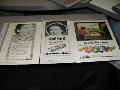Other Collectible Ads 1952 Beech-nut Chewing Gum Allie Reynolds New York Yankees Baseball Pitcher Ad Collectibles