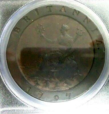 PCGS VF35 Secure-Great Britain 1797 George III 2 Pence Scarce
