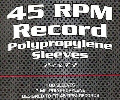 200 BCW 45 RPM Record Outer Poly Sleeves 7 Inch Archival Acid Free