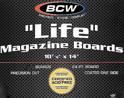 15 Assembled BCW 11X14 Life Magazine Bags and Boards