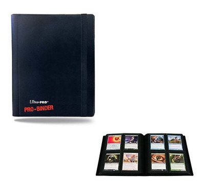 Ultra Pro 4 Pocket PRO BINDER BLACK 20 Pages Holds 160 Gaming/Trading Cards