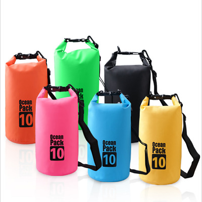 2L 5L 10L 20L Outdoor PVC Waterproof Dry Bag Durable Diving floating Backpacks