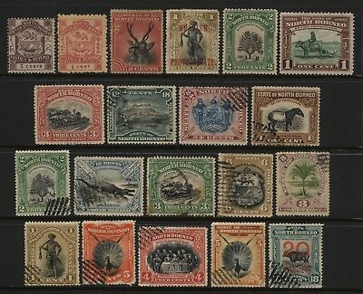North Borneo Collection 20 Stamps Used / Unused Mounted