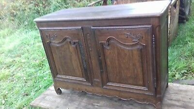 Original 18Thc Large French Antique Heavy Oak Sideboard From Normandy