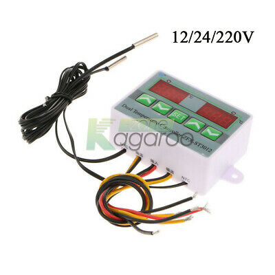 12/24/220V ZFX-ST3012 Dual Digital Temperature Controller 10A Thermostat Switch