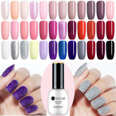 15ml UR SUGAR Nail Art UV Gel Polish Glitter Soak Off Top Coat UV LED 108 Colors