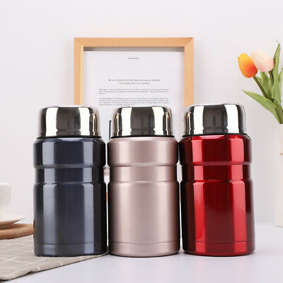 Portable Stainless Steel Soup Mug Thermal Vacuum Cup Travel 18 Ounce Food Cans