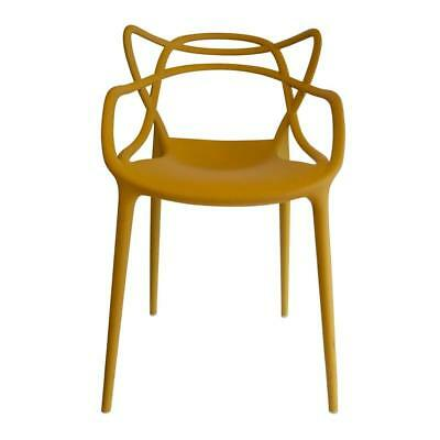 Kartell Original Masters Dining Chair Indoor & Outdoor Arm Chairs Mustard Yellow