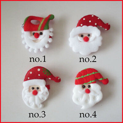 """50 BLESSING Girl 2.5"""" Hair Clip Christmas Accessories Wholesale Non Woven Fabric"""