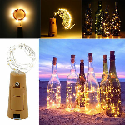 15 LED Copper Wire Wine Bottle Cork Battery Xmas Fairy String Lights AU STOCK