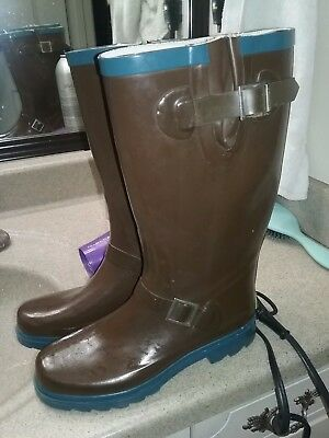 af2761d11cd0 WESTERN CHIEF WOMEN'S Brown Rubber Rain Boots Size 7 - $16.00 | PicClick