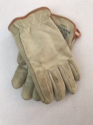 Vintage Brotherhood Wells Lamont Large Leather Work Gloves W Lining Motorcycle