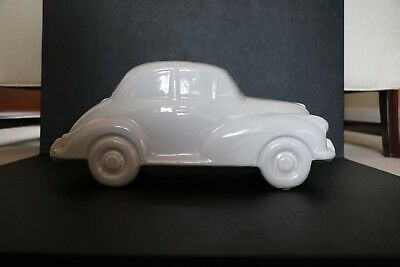 Large Dartmouth Pottery Morris Minor In White