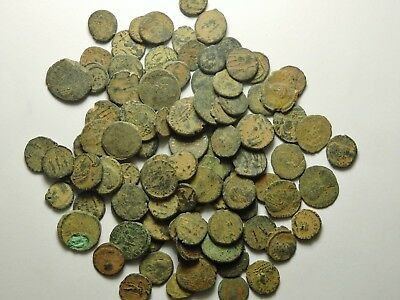 100 Small As Found Low Grade Roman Bronze Coins (154H)
