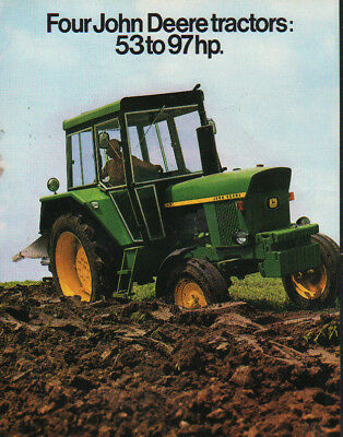 John Deere 53 to 97hp Tractors, Magazine Suppliment Brochure