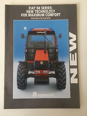 FIATAGRI FIAT 94 SERIES Sales Brochure/Specifications