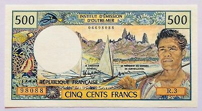 FRENCH PACIFIC TERRITORIES - 500 FRANCS - 1992 - PICK 1a , AU .