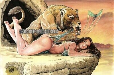 Cavewoman Dragonfly Signed Print by Budd Root