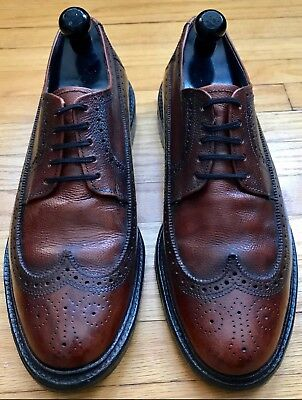 (RARE) Vintage Leather Wingtip Executive Imperials by Mason Size Men's 11.5 US