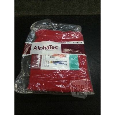 AlphaTec 8018 Chemical Resistant Bib Overalls, Red, XL
