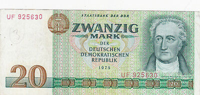 20 Mark  Fine Banknote From East Germany 1975!!pick-29