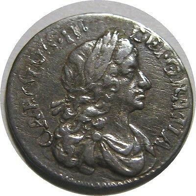 elf  Great Britain 2 Pence 1679 Silver  Charles II   Maundy  Double Strike