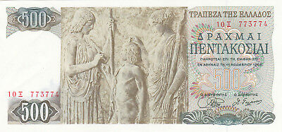 500 Drachmai Extra Fine Banknote From Greece 1968!pick-197