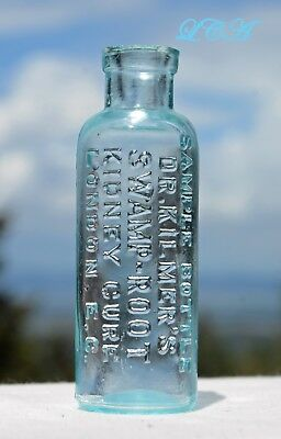 Antique SAMPLE BOTTLE Dr Kilmer SWAMP ROOT Kidney CURE scarce LONDON Version