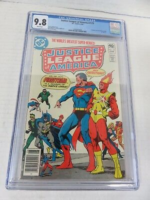 Justice League of America #179 CGC 9.8 Firestorm Joins The Team (1980)