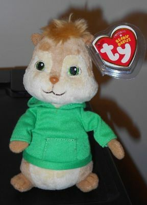 Ty Beanie Baby ~ THEODORE 6.5 Inch (Chipmunk from Alvin and the Chipmunks) MWMT