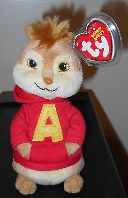 Ty Beanie Baby ~ ALVIN (7 Inch)(Chipmunk from Alvin and the Chipmunks) MWMT