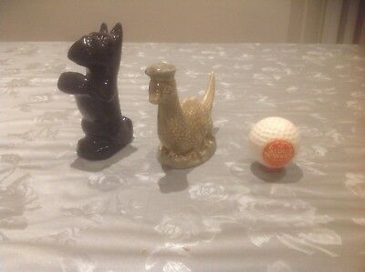 Vintage  Loch Ness Monsters Beneagles Scotch Whisky ,Clan Tartan Dog & Golf ball