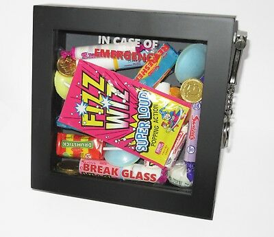 CHRISTMAS GIFT Emergency Break Glass 3d Box Frame Chocolate/Sweets/Candy/Food