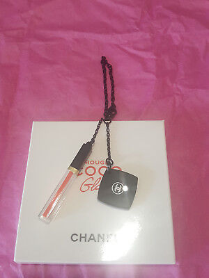 Rare Collector ! Bijoux De Sac Pampille 2 Breloques Rouge Coco Gloss Chanel Neuf