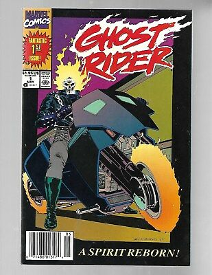 GHOST RIDER Vol.3 #1 1990 1st DANNY KETCH Newsstand Edition/Variant NM 9.6.