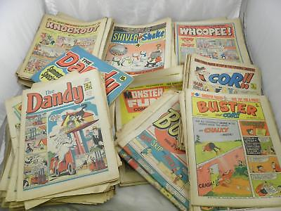 Huge Job Lot of 118 Vintage Comics from 1970s - Dandy, Knockout, Whoopee, Shiver