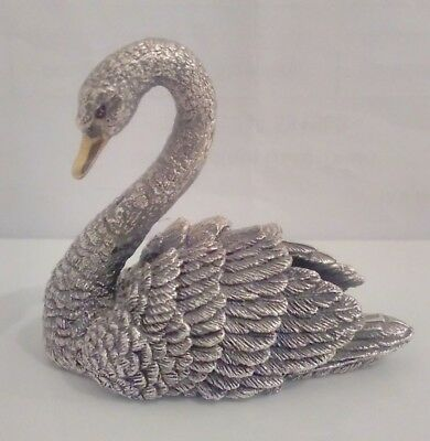 Stunning Filled Sterling Silver Swan - By Country Artists 1993