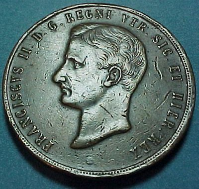 Itasly Italian States - Naples & Sicily - 1859 - 10 Tornesi - Large Copper Coin