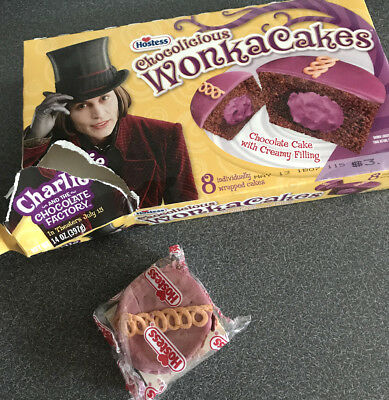 Old Vintage 2005 Hostess Willy Wonka Cakes Sealed Cake Charlie Chocolate Factory