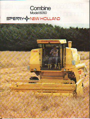 "New Holland ""Model 8050"" Combine Brochure Leaflet"