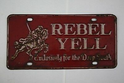 REBEL YELL WHISKEY License Plate Advertisement - Exclusively for Deep South
