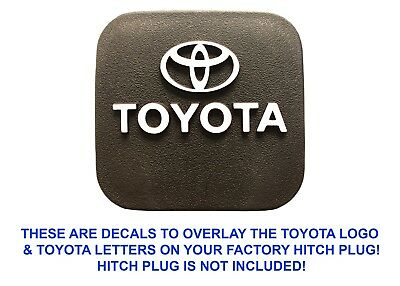 Gloss White Vinyl Decal Overlays For Factory OEM Toyota Hitch Plug New Free Ship
