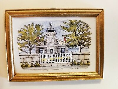 Dollhousesigned Print Of A Painting By Pat Scott~Lighthouse