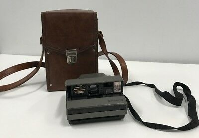 Polaroid Spectra System SE Instant Film Camera with Vintage Faux Leather Case